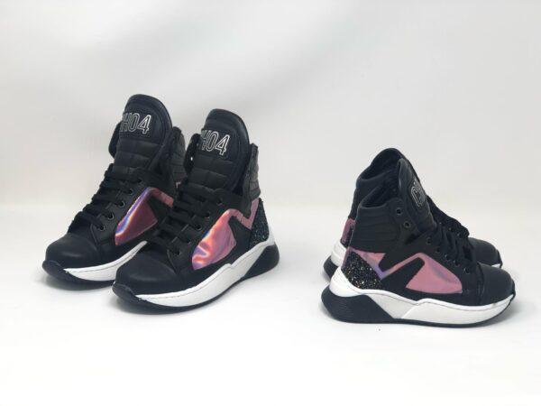 scarpetta nera e rosa